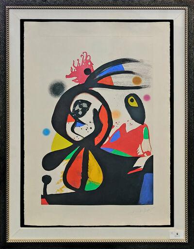 Joan Miró, 'L'AIGRETTE ROUGE', 1976
