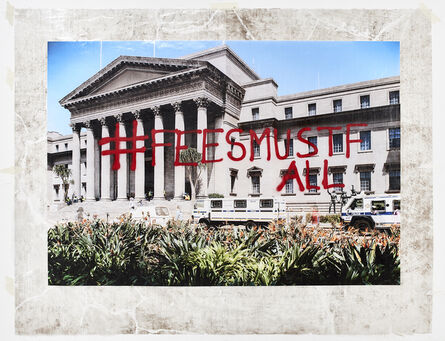 Mikhael Subotzky, 'Sticky-tape Transfer 19 - #feesmustfall (or Protecting the Architecture of Reason)', 2016