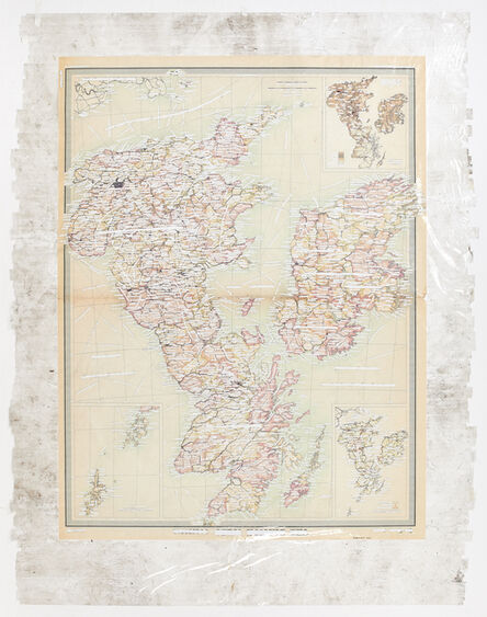 Mikhael Subotzky, 'Sticky-tape Transfer 20 - R. Wye (or The British Isles - political)', 2017