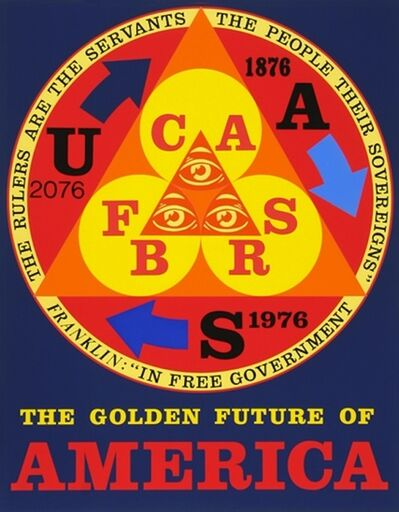 Robert Indiana, 'Golden Future Of America', 1976