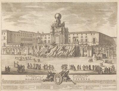 """Giovanni Girolamo Frezza after Alessandro Specchi (architect), 'The Temple of Janus, for the """"Chinea"""" Festival', 1722"""