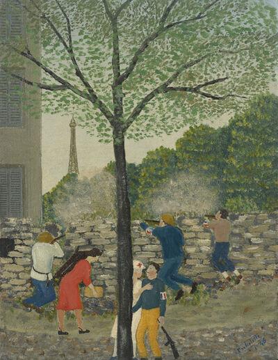 Louis-Auguste Déchelette, 'Les barricades (Beau-grenelle)', 1946