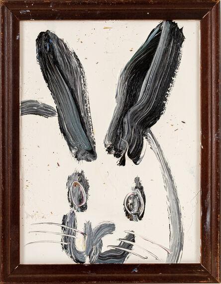 Hunt Slonem, 'Untitled ( smallish bunny portrait on ivory background)', 2020