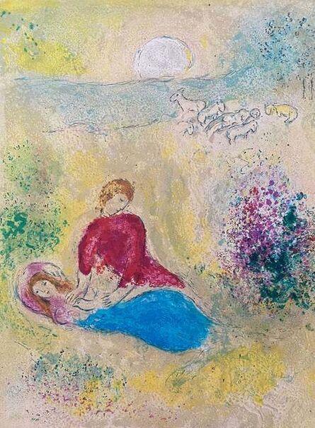 "Marc Chagall, '""L'Arondelle (The Little Swallow),"" from Daphnis et Chloé (Cramer 46; Mourlot 319)', 1977"
