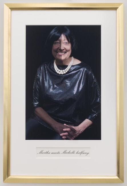 Martha Wilson, 'Martha meets Michelle halfway', 2014