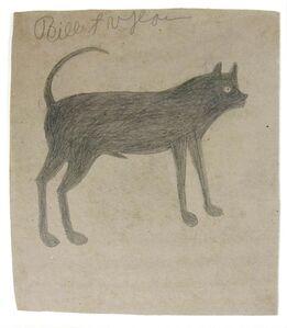 Bill Traylor, 'Sickle-tail Dog'