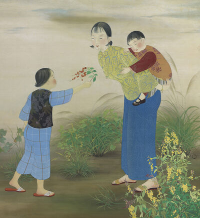 Chen Chin 陳進, 'Out in the Fields', 1934