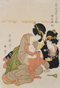 Kitagawa Utamaro, 'Young Child Dresses as Sojo Henjo', 1804