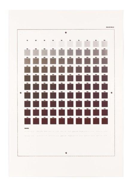 "Ryan Gander, '""Crooked finance... Gradient economy... Every colour left...""', 2014"