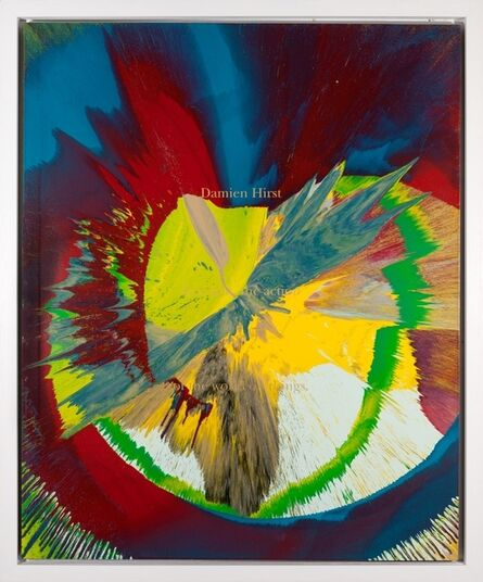 Damien Hirst, 'Spin Painting: Cut by Blue (DHS 663 145 (L))', 2002