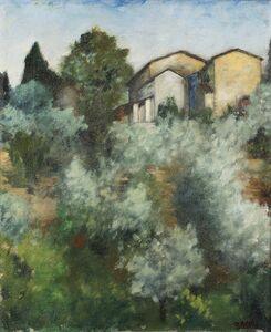 Ottone Rosai, 'Collina d'ulivi', 1922