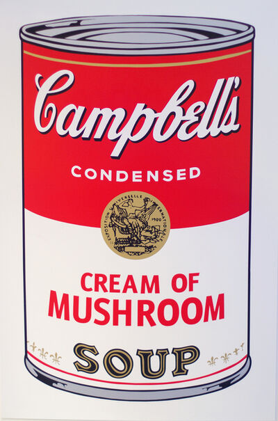 Andy Warhol, ' Campbell's Cream of Mushroom Soup I - After Warhol', 2018