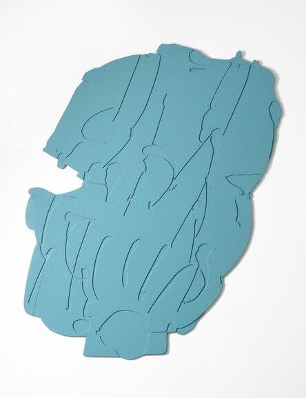 Pietro Consagra, 'Piano Appeso Alluminio Celeste', 1966-1967