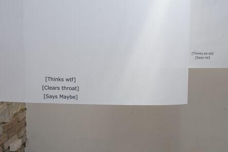 Hanne Lippard, 'Installation view', 2017