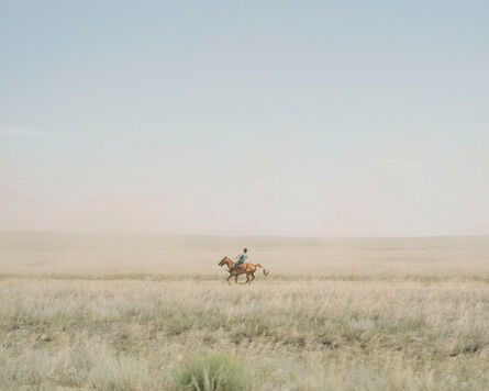 Nanna Heitmann, 'A traditional horse race of the Tuvinese National Festival Naadym in the steppe, at 43 degrees, Yenisei River, Kyzyl, Russia, 2018.', 2018