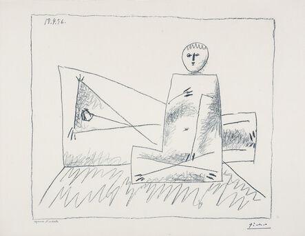 Pablo Picasso, 'Homme couche et femme accroupie', 1956