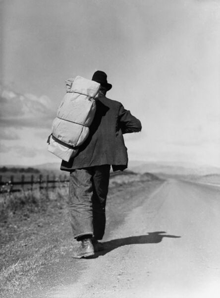 Dorothea Lange, 'Migrant Worker on California Highway', 1935