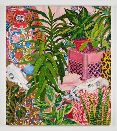 Anna Valdez, 'Studio Plants and Animal Skulls', 2020