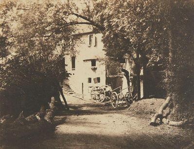 André Giroux, 'Untitled (rural scene with carts)', ca. 1854