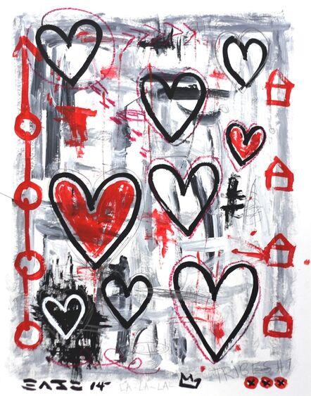 Gary John, 'Grey Hearts', 2014