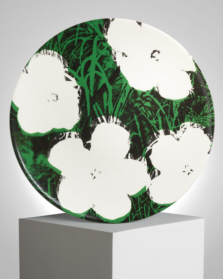 """Andy Warhol, '""""White Flowers"""" Porcelain Plate', ca. 2019"""