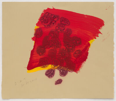 Howard Hodgkin, 'A Glass of Red', 2015-2016