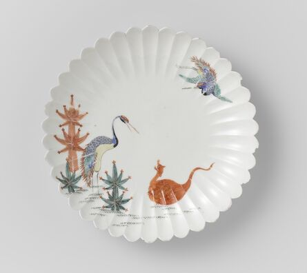 Unknown Artist, 'Ribbed bowl with crane and tortoise', 1670-1690