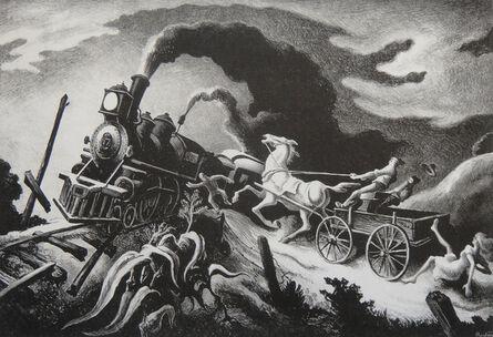 Thomas Hart Benton, 'Wreck of the Ol' '97', 1944