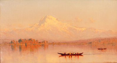 Sanford Robinson Gifford, 'Mount Tacoma from Puget Sound (Mount Rainier)', 1877