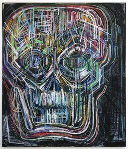 Thomas Houseago, 'Untitled (Colored Skull I)', 2017