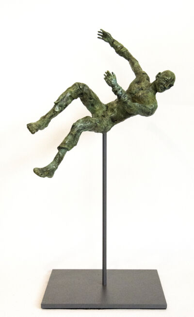 Sylvain Louis Seize, 'Equilibrium No 5 - small, lively, figurative, male, bronze, sculpture series', 2017