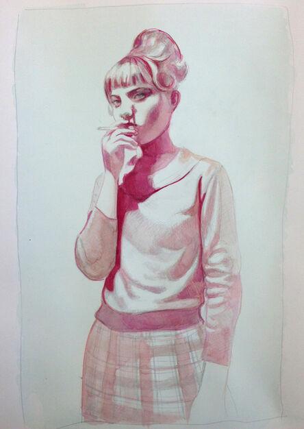 Mercedes Helnwein, 'Thought (Summer Smoking)', 2013
