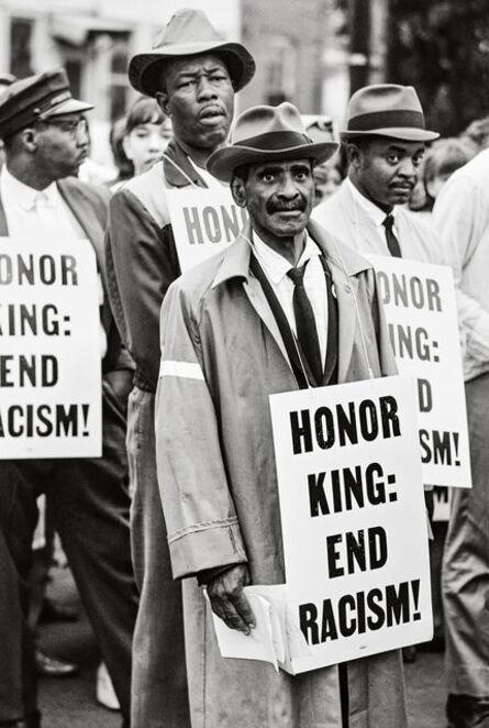Steve Schapiro, 'Honor King, End Racism, Memphis, Tennessee', 1968