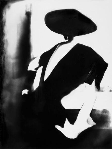 Lillian Bassman, ' Black - with One White Glove, Barbara Mullen, dress by Christian Dior, New York, Harper's Bazaar', 1950