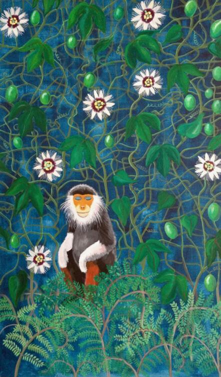 Aleta Armstrong, 'Monkey meditating in a granadilla garden', 2019