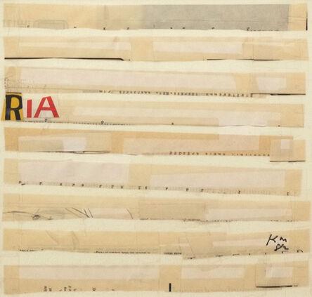 Keith Martin, '#5 RIA', 1982