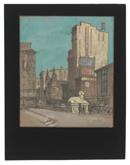 Jules Andre Smith, 'A View from the Steps of the 42nd Street New York Public Library', ca. 1915