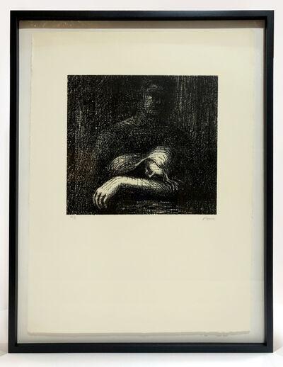 Henry Moore, 'Lullaby: Sleeping Head (framed)', 1973