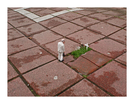 Isaac Cordal, 'Funeral for a Concrete Figure. Brussels. Belgium', 2012