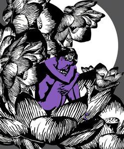 Nurdan Likos, 'Purple Lotus', 2014