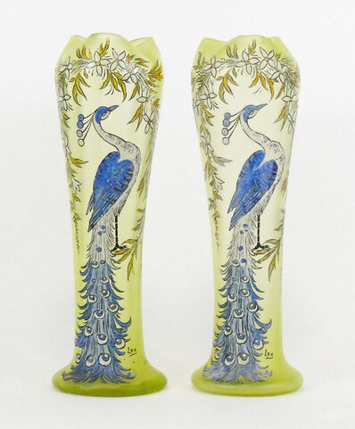 Francois Theodore Legras, 'A Pair of French Vases in Glass', Early 20th century