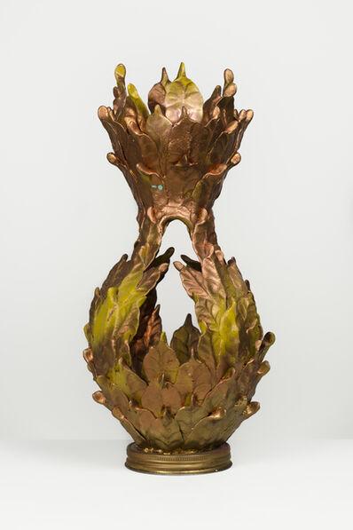 Eugene Von Bruenchenhein, 'Untitled (Copper vessel with jar lid base)'