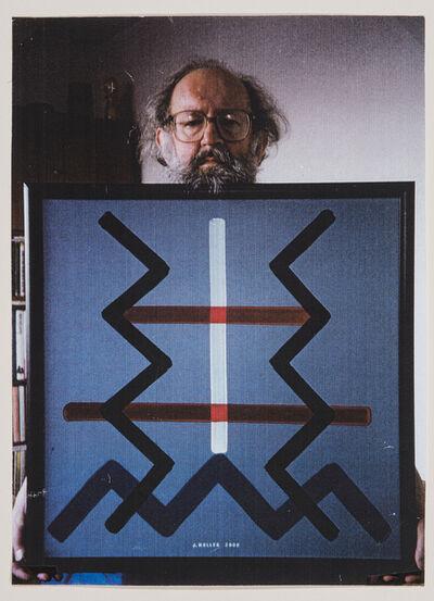 Július Koller, 'Untitled (Artist holding artwork)', 2000