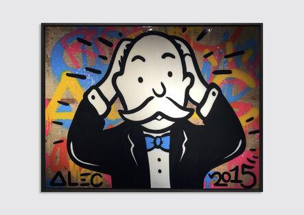 Alec Monopoly, 'Monopoly Holding his Head', 2015
