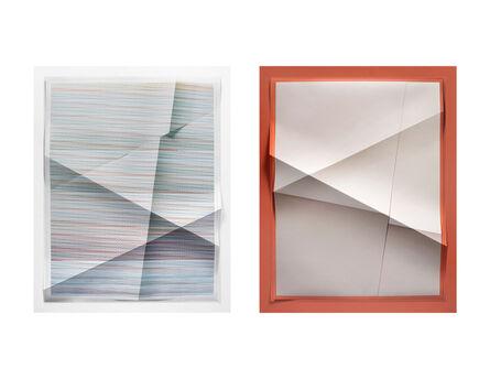 John Houck, 'Untitled #355, 194,480 combinations of a 2x2 grid, 21 colors ; Untitled #356, 2 colors, #C1B1A8,  #B2604C', 2015