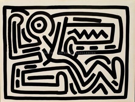 Keith Haring, 'Untitled, 1988 (Growing #6, dancing man)', 1988