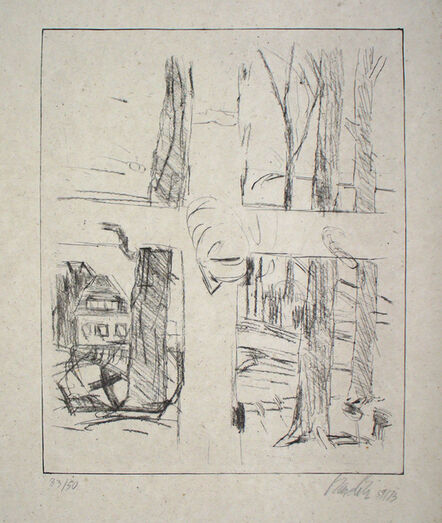 "Georg Baselitz, 'Kreuz (""Cross"")', 1973"