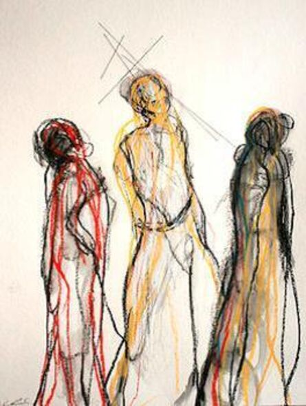 Chiharu Shiota, 'Three people', 2015
