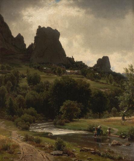 Worthington Whittredge, 'Summer Pastorale (View of Kallenfels)', 1853