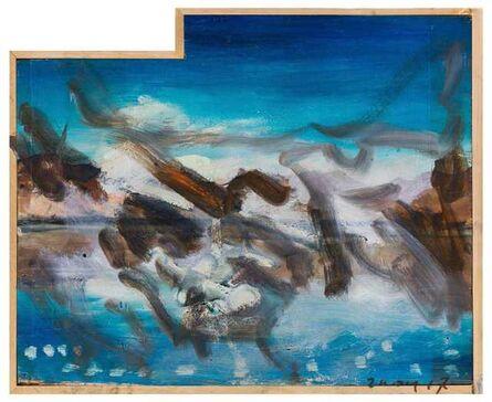 Zhou Yilun 周轶伦, 'Landscape with One Upper Corner Missing', 2017